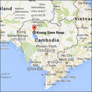 cambodia map siam reap