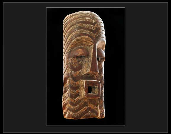 Wooden Carved African Mask