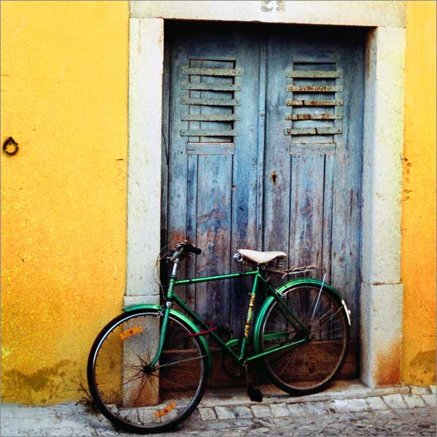 Portugal Street Scene with Bike